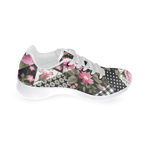 Rose Print Design 1 Women's Sneakers-Sneakers-JEFAMO