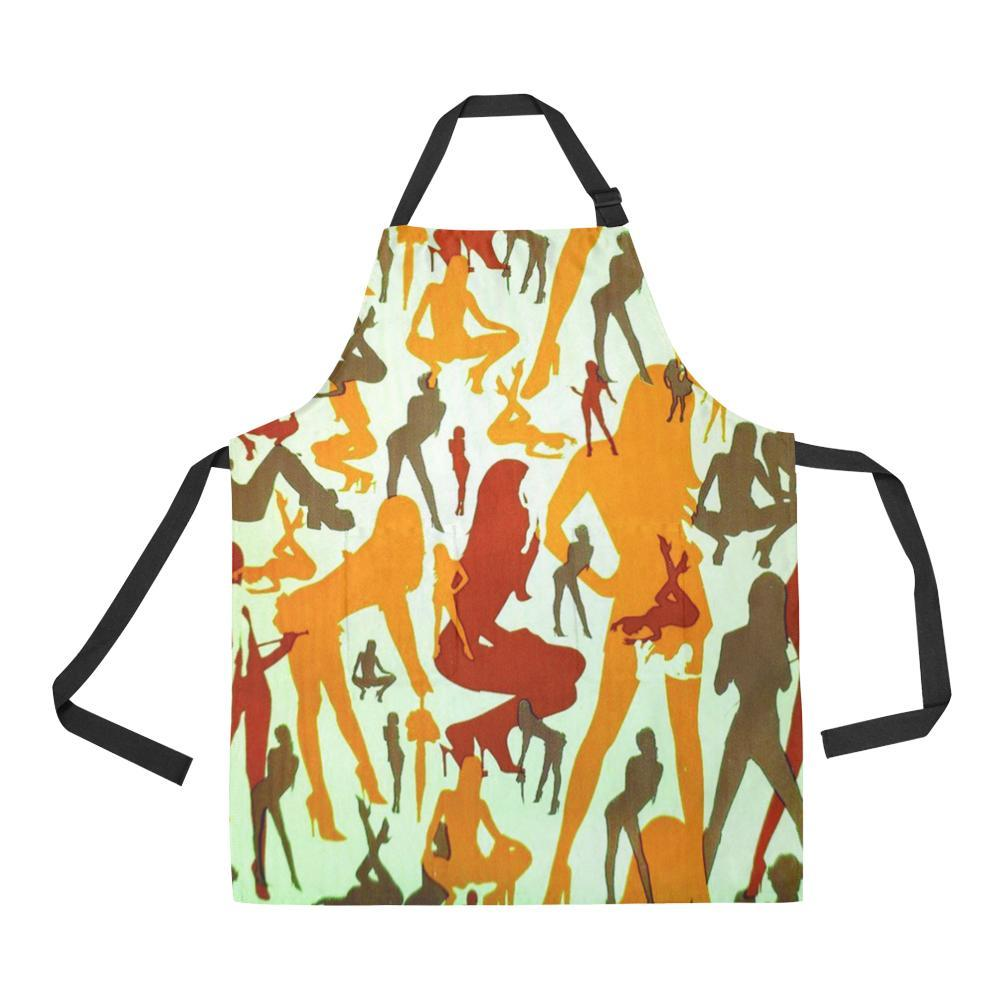 Sexy Girls Design 1 All Over Print Adjustable Apron-Aprons-JEFAMO