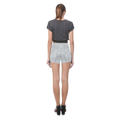 Image of Silver Glitter All-Over Skinny Shorts-Leggings-JEFAMO
