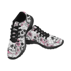 Skull & Flowers Design 1 Women's Sneakers