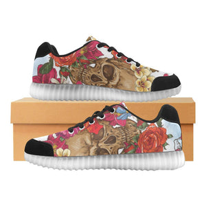Skull & Roses Design 3 Light Up Casual Women's Shoes-Light Up Shoes-JEFAMO