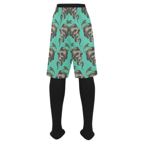Image of Skull & Snakes Design 1 Men's Swim Trunk-Swimwear-JEFAMO
