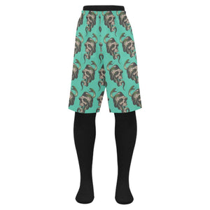 Skull & Snakes Design 1 Men's Swim Trunk-Swimwear-JEFAMO