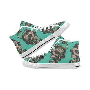 Skull & Snakes Design 1 Vancouver High Top Canvas Men's Shoes