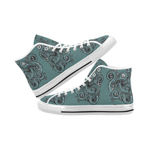 Skulls & Squids Design 1 Vancouver High Top Canvas Men's Shoes