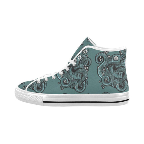 Image of Skulls & Squids Design 1 Vancouver High Top Canvas Men's Shoes-Canvas Shoes-JEFAMO