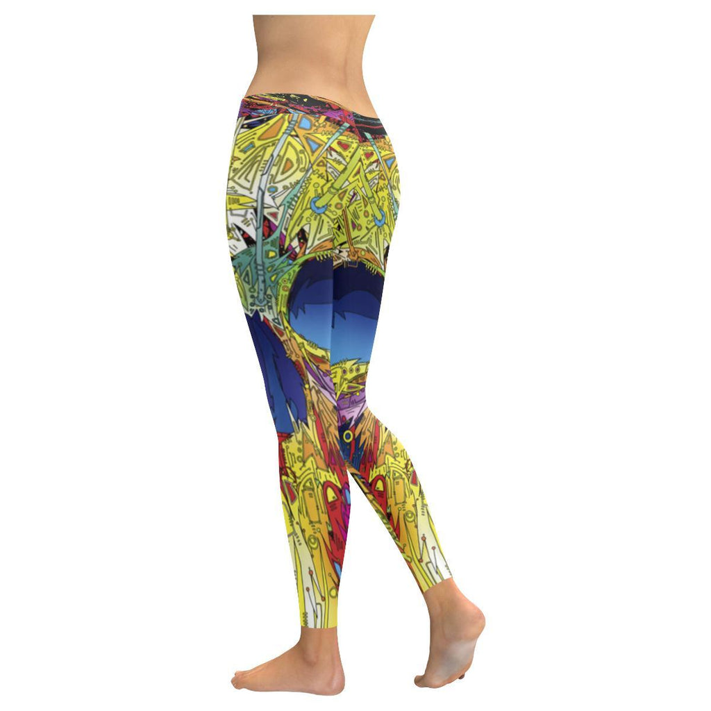 Sugar Skull All-Over Low Rise Leggings-Leggings-JEFAMO