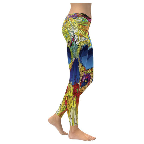 Image of Sugar Skull All-Over Low Rise Leggings-Leggings-JEFAMO