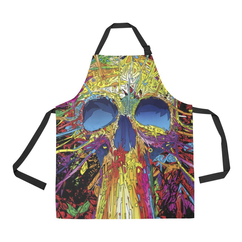 Sugar Skull All Over Print Adjustable Apron-Aprons-JEFAMO