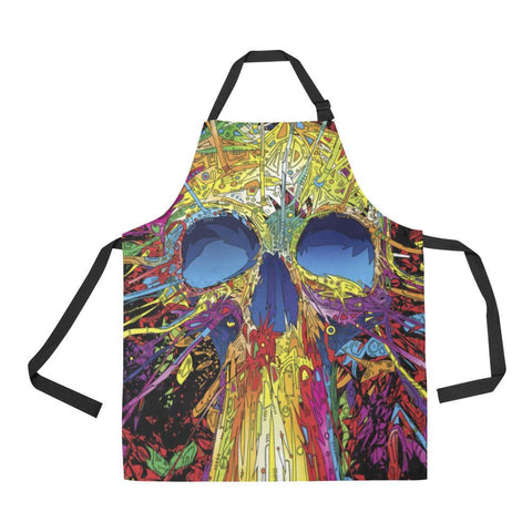 Image of Sugar Skull All Over Print Adjustable Apron-Aprons-JEFAMO