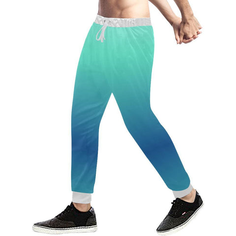 Image of Teal Design 1 Men's All Over Print Casual Jogger Pants-Pants-JEFAMO