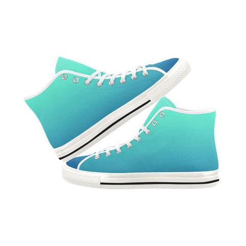 Image of Teal Design 1 Vancouver High Top Canvas Women's Shoes-Canvas Shoes-JEFAMO