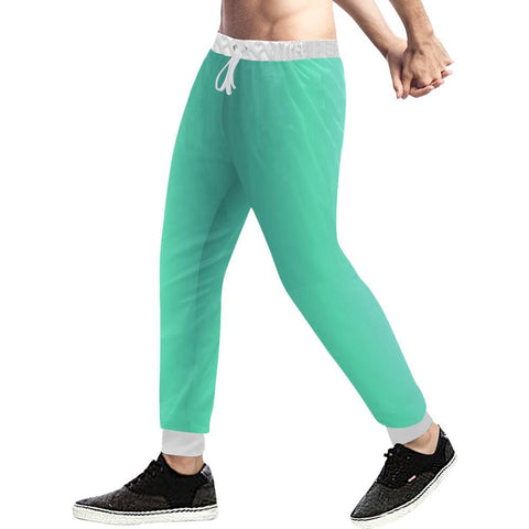 Image of Teal Design 2 Men's All Over Print Casual Jogger Pants-Pants-JEFAMO