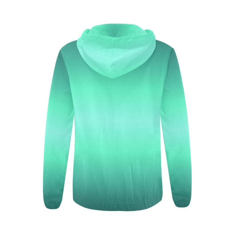 Image of Teal Design 2 Women's All Over Print Full Zip Hoodie-Hoodies-JEFAMO