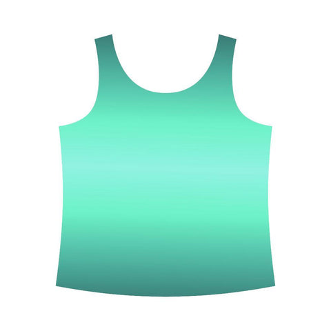 Image of Teal Design 2 Women's All Over Print Tank Top-Tank Tops-JEFAMO