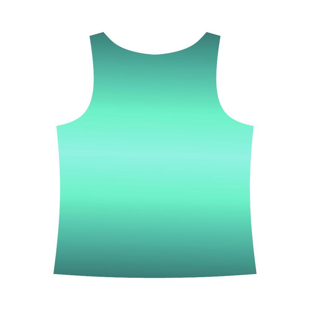 Teal Design 2 Women's All Over Print Tank Top-Tank Tops-JEFAMO