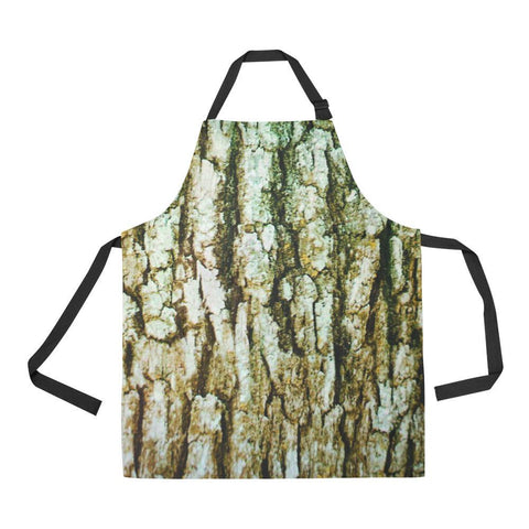 Image of Tree Bark Design 1 All Over Print Adjustable Apron-Aprons-JEFAMO