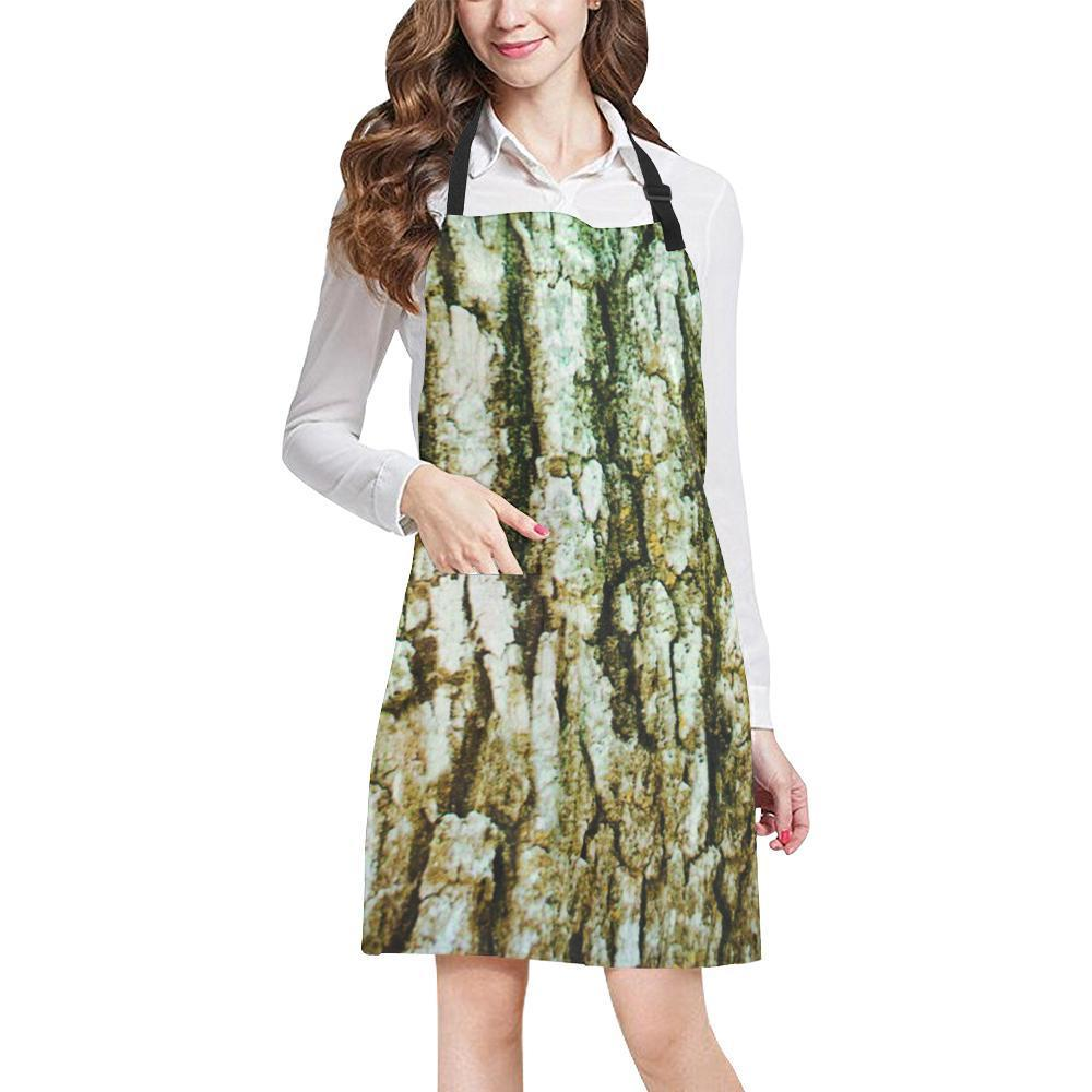 Tree Bark Design 1 All Over Print Adjustable Apron-Aprons-JEFAMO