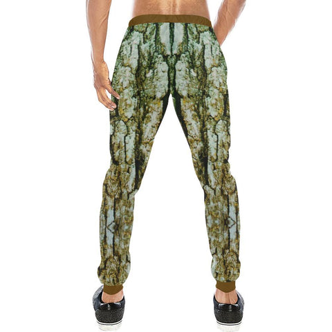 Image of Tree Bark Design 1 Men's All Over Print Casual Jogger Pants-Pants-JEFAMO
