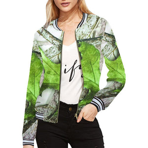 True Woods Design 6 Women's All Over Print Horizontal Stripes Jacket-Jackets-JEFAMO