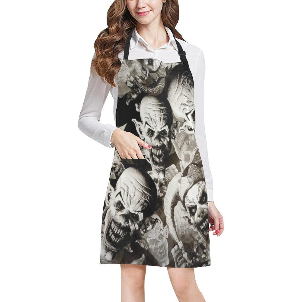 UK Clowns All Over Print Adjustable Apron-Aprons-JEFAMO