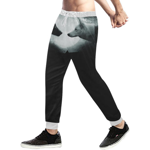 Wolf Design 1 Men's All Over Print Casual Jogger Pants-Pants-JEFAMO