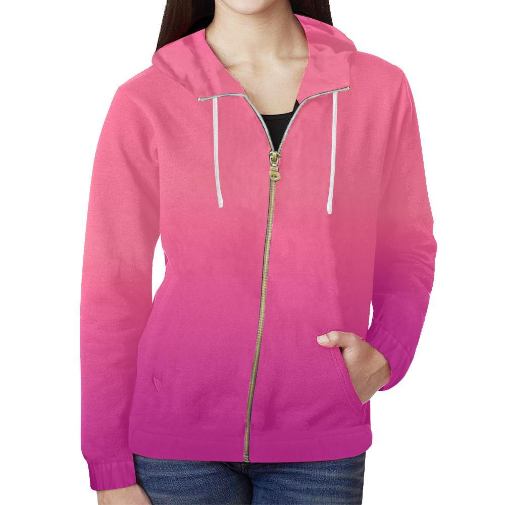 Young Passion Design 1 Women's All Over Print Full Zip Hoodie-Hoodies-JEFAMO