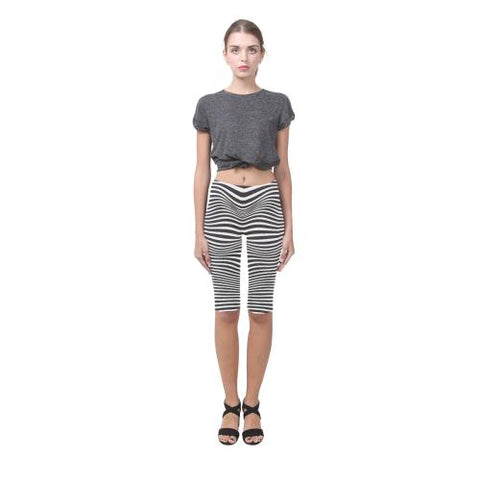 Zebra Pattern All-Over Cropped Leggings (Model L03)-Leggings-JEFAMO