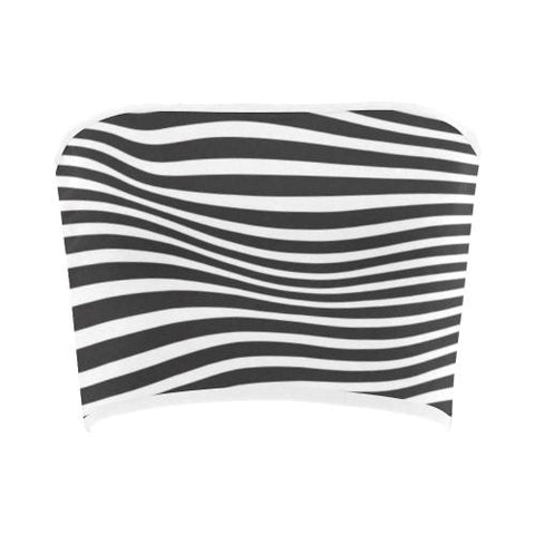 Image of Zebra Pattern Bandeau Top-Tank Tops-JEFAMO