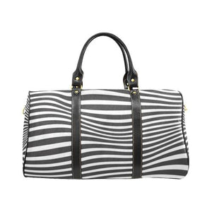 Zebra Pattern Travel Bag Black (Small) (Model1639)