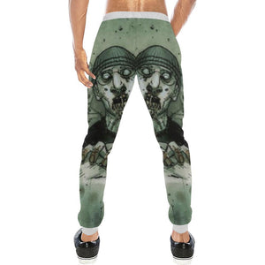 Zombie Design 1 Men's All Over Print Casual Jogger Pants