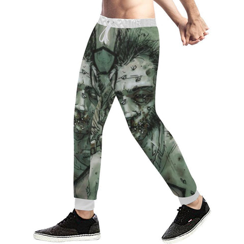 Image of Zombie Design 1 Men's All Over Print Casual Jogger Pants-Pants-JEFAMO