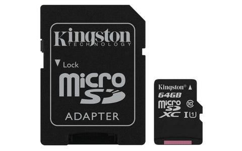 64GB MICRO SD WITH SD ADAPTER