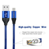 Canvas Cable 6.6ft For Type-C In Blue