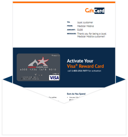 Madstar Mobile Gift Card Gift Card