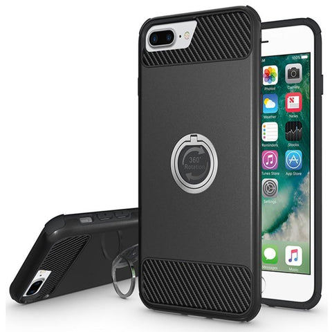 Modes Cases black iPhone 6 / 6S Plus Shockproof 360° Ring Stand Case