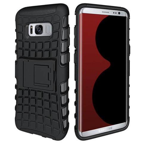 Modes Cases black Samsung Galaxy S8 TPU Slim Rugged Stand Case Cover