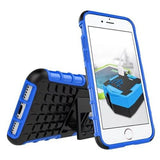 Modes Cases blue iPhone 7 TPU Slim Rugged Stand Case Cover