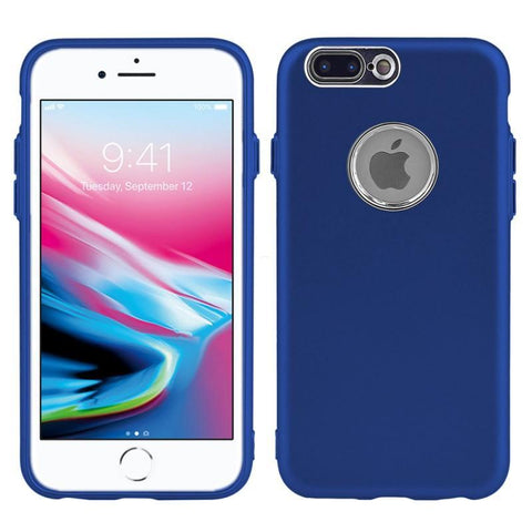 Modes Cases blue iPhone 8 / 7 Plus Slim Electroplated Metallic Case