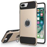 Modes Cases gold iPhone 6 / 6S Plus Shockproof 360° Ring Stand Case
