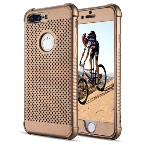 Modes Cases gold iPhone 7/8 Plus Shockproof Breathable Cooling Case