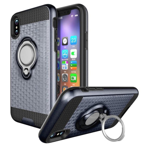 Modes Cases gray iPhone X Magnet Ring Stand Case