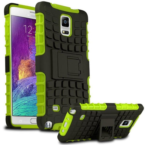 Modes Cases green Samsung Galaxy Note 4 TPU Slim Rugged Stand Case Cover