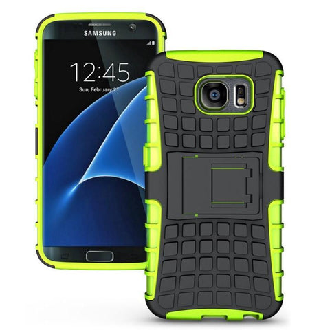 Modes Cases green Samsung Galaxy S7 Edge TPU Slim Rugged Stand Case Cover