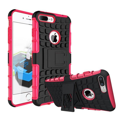 Modes Cases pink iPhone 7/8 Plus TPU Slim Rugged Stand Case Cover