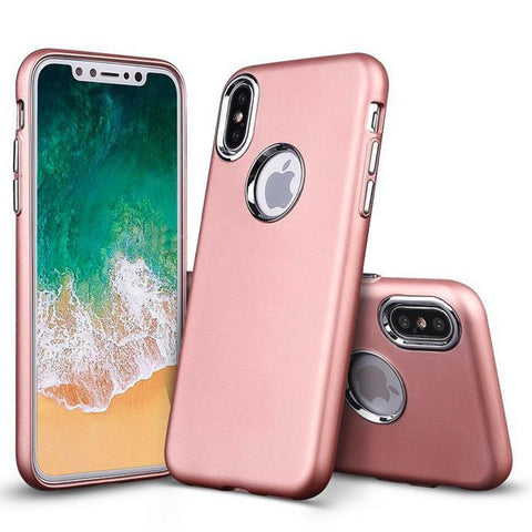 Modes Cases pink iPhone X Slim Electroplated Metallic Case