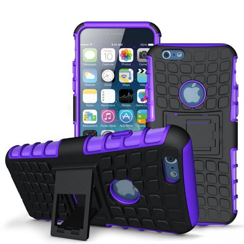 Modes Cases purple iPhone 6/6S TPU Slim Rugged Stand Case Cover