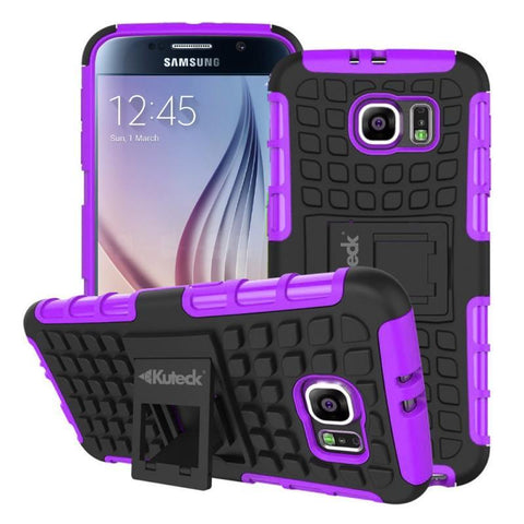 Modes Cases purple Samsung Galaxy S6 TPU Slim Rugged Stand Case Cover