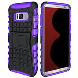 Modes Cases purple Samsung Galaxy S8 TPU Slim Rugged Stand Case Cover