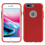 Modes Cases red iPhone 8 / 7 Plus Slim Electroplated Metallic Case